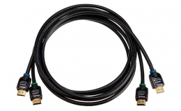 AmazonBasics High-Speed HDMI Cable 2-Pack - 6.5 Feet (2 Meters) Supports Ethernet, 3D, 4K and Audio
