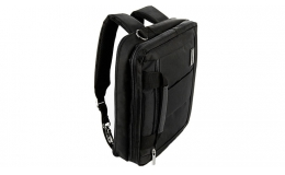 VanGoddy El Prado Three in One Backpack, Briefcase, and Messenger Bag for 13.3 to 14 inch Laptops (Black)