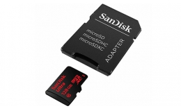 SanDisk 128GB Ultra MicroSDXC Class 10 UHS Memory Card Speed With Adapter Model (SDSDQUA-128G-G46A)