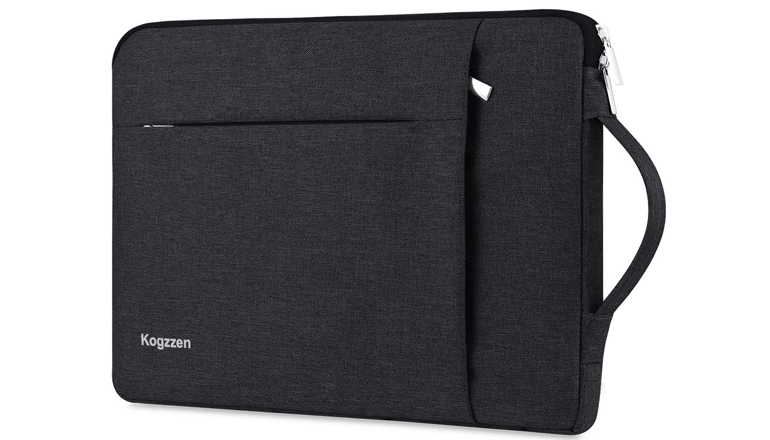 Kogzzen 13-13.5 Inch Laptop Sleeve with Handle Compatible with MacBook Air 13.3/ MacBook Pro 13/ Dell XPS 13/ Surface Laptop 13.5/ iPad Pro 12.9, Waterproof Shockproof Case Bag - Black