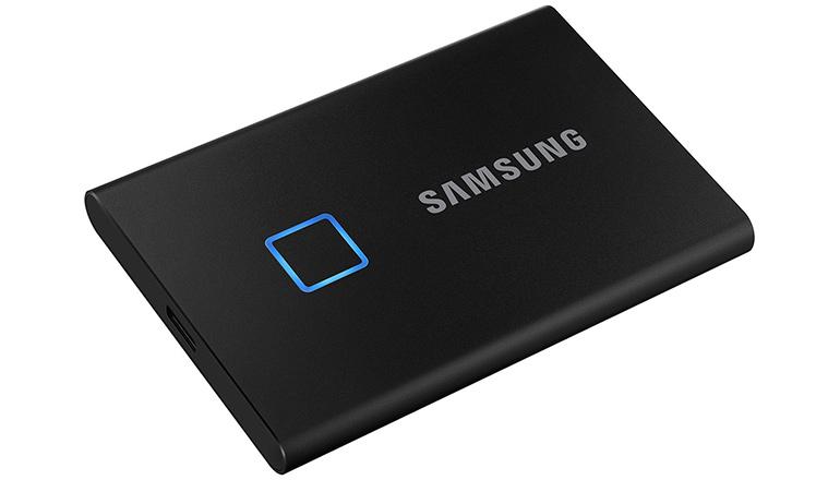 Портативный SSD Samsung T7 Touch 2TB USB 3.1 Gen 2 Black (MU-PC2T0K/WW)