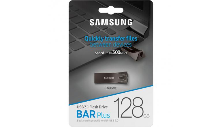 Накопитель Samsung BAR Plus USB 3.1 128GB (MUF-128BE4/APC) Titan Gray