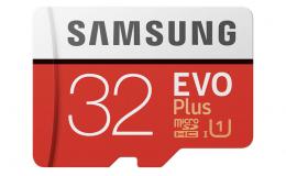 Карта памяти Samsung 32GB EVO Plus Class 10 UHS-I microSDHC U1 with Adapter (MB-MC32GA)