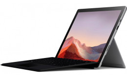 Microsoft Surface Pro 7 i5 - 8GB - 128GB Platinum with Black Surface Pro Type Cover (QWU-00001)