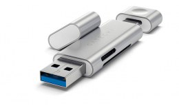 Картридер Satechi Aluminum Type-C USB 3.0 and Micro/SD Card Reader Silver (ST-TCCRAS)