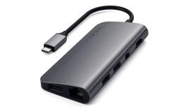 Satechi Aluminum Type-C Multimedia Adapter Space Gray (ST-TCMM8PAM)