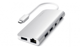 Satechi Aluminum Type-C Multimedia Adapter Silver (ST-TCMM8PAS)