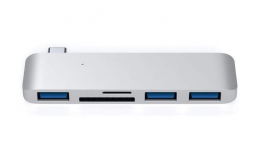 Satechi Type-C USB 3.0 3-in-1 Combo Hub Silver (ST-TCUHS)