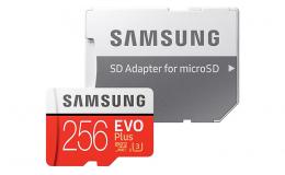 Карта памяти Samsung 256GB microSDXC C10 UHS-I U3 R100/W90MB/s Evo Plus SD адаптер (MB-MC256HA/RU)