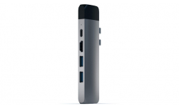 Satechi Aluminum Type-C Pro Hub Adapter with Ethernet Space Gray (ST-TCPHEM)