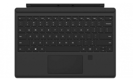 Microsoft Surface Pro 4 Type Cover (Black) with Fingerprint ID