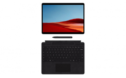 """Microsoft 13"""" Multi-Touch Surface Pro X with Surface Pro X Keyboard and Surface Slim Pen (QWZ-00001) 8GB/256GB Matte Black"""