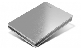 Toshiba Canvio Slim II 1TB Portable External Hard Drive (silver)