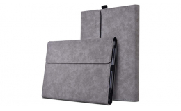 Alcantara Protective case for Surface Pro X 13 Inch, Multiple Angle Polyester Slim Lightweight Sleeve Bag Cover, Compatible with Type Cover Keyboard Accessories (Gray)