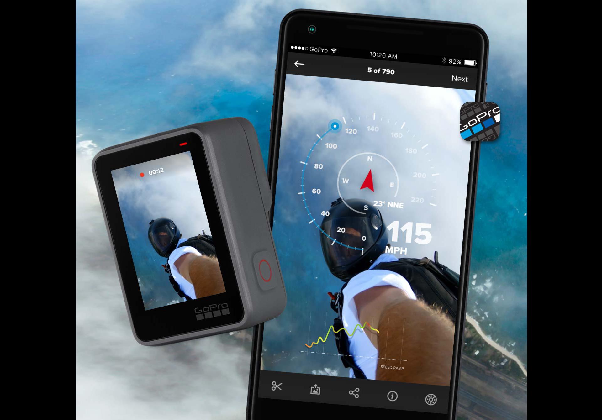 GPS маркеры на видео 4К